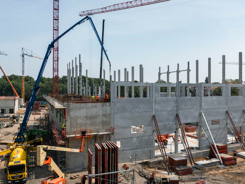 Der Bau des neuen Heizkraftwerks Leipzig Süd