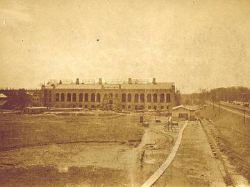 Heizkraftwerk Leipzig Süd 1909, Errichtung Maschinenhaus