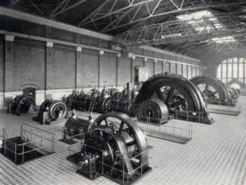 Heizkraftwerk Leipzig Süd 1910, Maschinenhalle