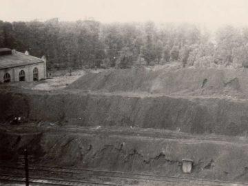 Heizkraftwerk Leipzig Süd 1954, Kohlelagerplatz