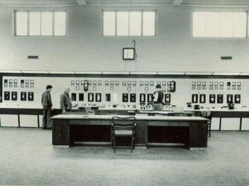 Heizkraftwerk Leipzig Süd 1957, Schaltwarte